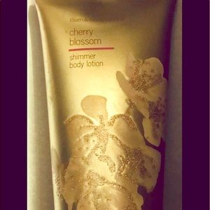 Bath and Bodyworks Cherry Blossom Shimmer lotion